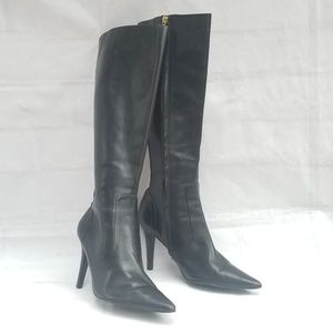 LAUREN by Ralph Lauren Leather Pointed Toe Boots